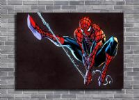 SPIDER MAN - BLACKOUT SWING canvas print - self adhesive poster - photo print